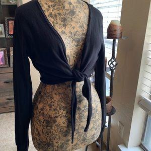 H&M Front Tie Shrug || Large